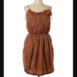 Silk Space Style Concept Sienna Rust Mini Dress